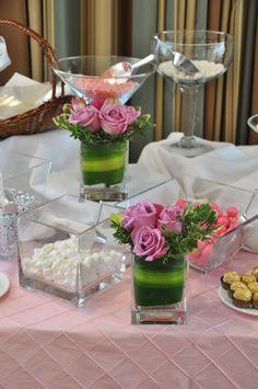 sweet table arrangements