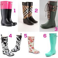 ¿Qué tipo de botas para lluvia van contigo?