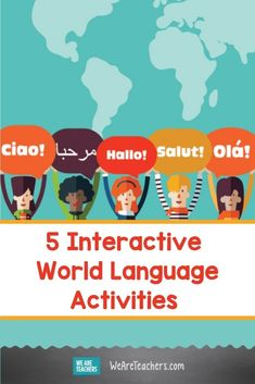 5 Interactive World Language Activities for Remote and Socially-Distanced Classrooms. These interactive world language activities will get your students excited about learning—even in remote or socially-distanced classrooms. #worldlanguage #classroom #classroomideas #languageactivities #activities #activitiesforkids #teaching Kids Learning Activities, Language Activities, Fun Learning, Teaching Resources, Free Bingo Cards, World Language Classroom, Vocabulary List, World Languages, Teaching English