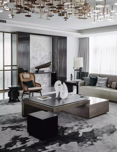 Contemporary luxe living space