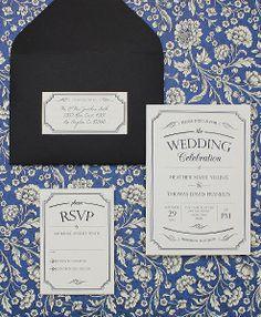 Vintage type invitation set