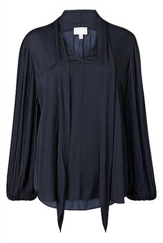 Pleat Sleeve Blouse | New In