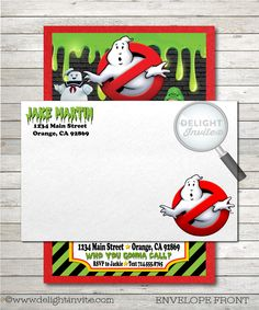 Ghostbusters Birthday Invitations