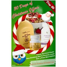 Xmas party season survival kit! -Aloe drinking gel hydrates the body. - Forever Lean blocks fat and carb absorption. - Bee Pollen superfood and slow release energy! Bag yours now with free Aloe Lips! #30daysofxmas #ad #giftyourself #partysurvivalkit