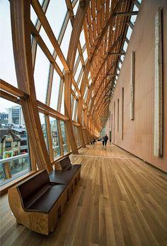 Frank Gehry vs Cedar Wood - Art Gallery of Ontario, Toronto post by annaovchinnikova Architecture Design, Beautiful Architecture, Beautiful Buildings, Contemporary Architecture, Toronto Architecture, Building Architecture, Contemporary Interior, Art Gallery Of Ontario, Futuristic Interior