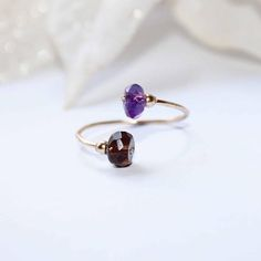 Gold filled ring gemstones ring gold plated ring amethyst
