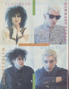 """""""Hyena""""-era Siouxsie and The Banshees poster when Robert Smith of the Cure was in the lineup. Siouxsie Sioux, Siouxsie & The Banshees, Vintage Goth, 80s Goth, Punk Goth, New Wave Music, My Music, Robert Smith The Cure, New Romantics"""