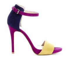 Fuschia, Purple & Yellow