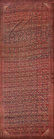 Beshir long carpet  Turkestan  late 19th century  size approximately 8ft. 2in. x 20ft. 10in.