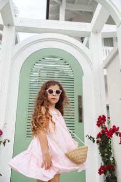 Marlowe Pink Peach Sunglasses Front Little Girl Dresses, Little Girls, Girls Dresses, Buy A Gift Voucher, Baby Girl Accessories, Girls Best Friend, Head Wraps, Boho Fashion, Peach