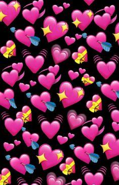 Emoji Wallpaper Iphone, Cute Emoji Wallpaper, Cute Wallpaper Backgrounds, Tumblr Wallpaper, Love Wallpaper, Aesthetic Iphone Wallpaper, Disney Wallpaper, Cute Wallpapers, Transparent Wallpaper
