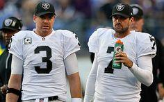 Carson Palmer (3) and Matt Leinart (7)- Oakland Raiders