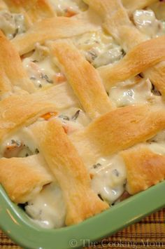 Chicken Pot Pie on the Fly~ great recipe for a holiday or to feed a large crowd .