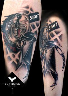 Kompass-Tattoo - Buntblick Tattoo Potsdam (http://www.buntblick-tattoo.de/)