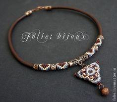 "Necklace, handmade beads. Fair Masters - handmade necklace ""Ethnics"". Handmade."