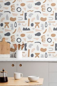 Channel Matisse joy with this graphic wallpaper collection