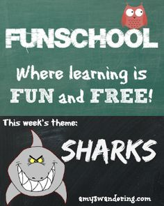 Free lesson plans, websites, and printables for learning about Sharks - perfect for Shark Week