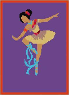 Pocahontas princess Cross Stitch Pattern/Disney cross