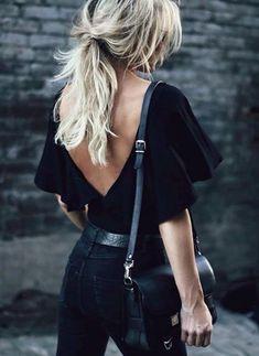 Style - black low back