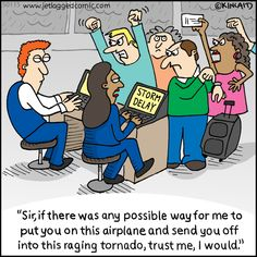 Enjoy hundreds of flight crew and passenger themed cartoons, created by current flight attendant Kelly Kincaid.