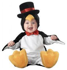 Disfarce carnaval de pinguim com estilo para bebé