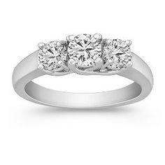Three-Stone Round Diamond Ring - Shane Co