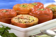 Grieks gevulde paprika's   Gezonde slanke recepten   Flinndal