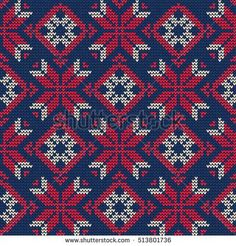 Vector Illustration of Knitted Sweater Seamless Pattern for Design, Website, Background, Banner. Christmas Ornament for Wallpaper or Textile. Norwegian Texture Template