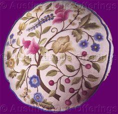 Rare Athol Floral Jacobean Crewel Embroidery Pillow Kit Williams
