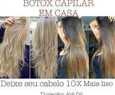 Botox Capilar Caseiro é um tratamento que deixa o cabelo muito bonito e super hidratado. - Aprenda a preparar essa maravilhosa receita de Botox Capilar em Casa: Deixe seu cabelo 10x mais liso – Duração de até 4 meses