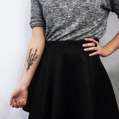 Awesome Lavender arm Tattoo