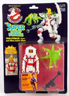 Vtg 1989 Ghostbusters Super Fright Features EGON SPENGLER MOSC Sealed Kenner Toy #Kenner