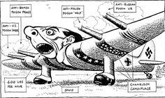 Caricature de Leslie Illingworth paru dans le Daily Mail le 30 avril 1943