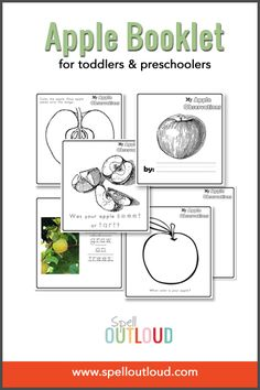 Free apple printable journal for toddlers and preschoolers