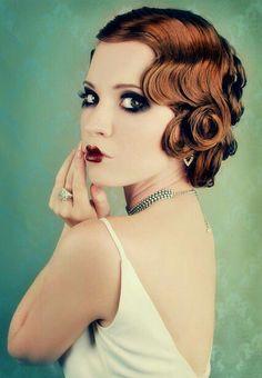 1920's hair + makeup