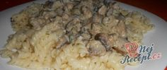 Recept Smetanová žampiónová omáčka s těstovinama Tortellini, Grains, Chicken, Food, Grated Cheese, Top Recipes, Fungi, Meat, Lasagna