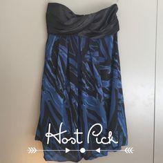 Forever 21 Strapless Print Dress