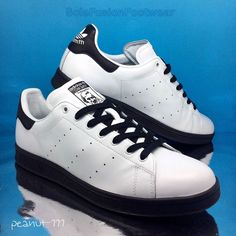 adidas Originals Mens Stan Smith Trainers White/Black sz 10 Rare Sneaker US 10.5 | eBay