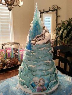 Torta di Frozen con decorazioni in pasta di zucchero n.13