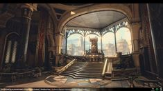 This is a collab between me and Martin Holmberg for the Polycount Throne Room contest! Rendered in real time on the Unreal Engine The backstory is th. Temple Of Utu - Unreal Engine 4 Environment - 03 Fantasy Rooms, Fantasy City, Fantasy Castle, Fantasy Places, Fantasy World, Environment Concept Art, Environment Design, Legolas, Fantasy Concept Art