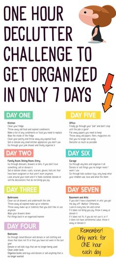Organizing Clutter Ideas: Easy One Week Declutter Challenge