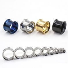 2pcs/Lot Stainless Steel Screw Ear Expansion Stretcher Gauges Flesh Plug Tunnels Hollow Earring Expander Body Piercing Jewelry