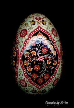 Persian rug inspired Pysanka Egg by So Jeo.