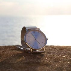 The Marylebone watch has a polished stainless steel case. The dial, hands and indices are also polished stainless steel. The look is completed with a polished stainless steel mesh strap.