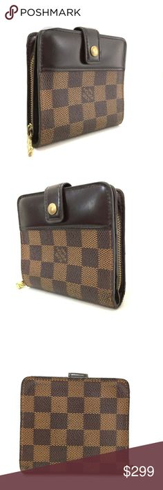a1be54b0cee3 Louis Vuitton Damier Compact Zip Bifold Wallet Serial Number / Date Code :  CA1908 Our items