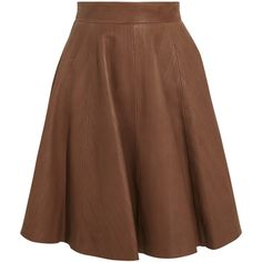 Temperley London Adele high-waisted brushed-leather skirt