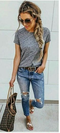 Cute Summer Outfits, Simple Outfits, Spring Outfits, Winter Outfits, Summer Clothes For Women, Summer Outfits Women Over 40, Jeans Outfit Summer, Ladies Clothes, Spring Clothes