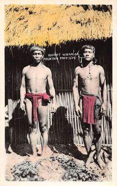 Philippines view of two male Igorot warriors Pacific Ocean, Genetics, Southeast Asia, Warriors, Philippines, Wonder Woman, Superhero, People, Image