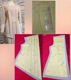 Pola Kebaya Kutubaru, Kebaya Brokat, Dress Sewing Patterns, Blouse Patterns, Clothing Patterns, Batik Fashion, Fashion Sewing, Abaya Pattern, Model Kebaya