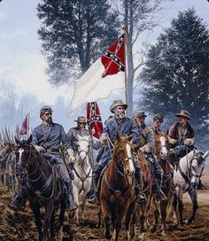 General Robert E. Lee and his cavalry, 1864.